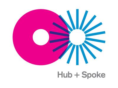 Hub + Spoke Logo